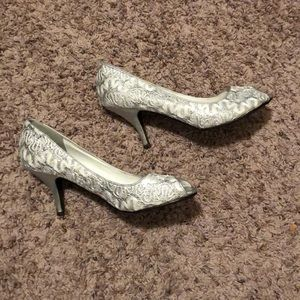 Cute sparkly silver shoes